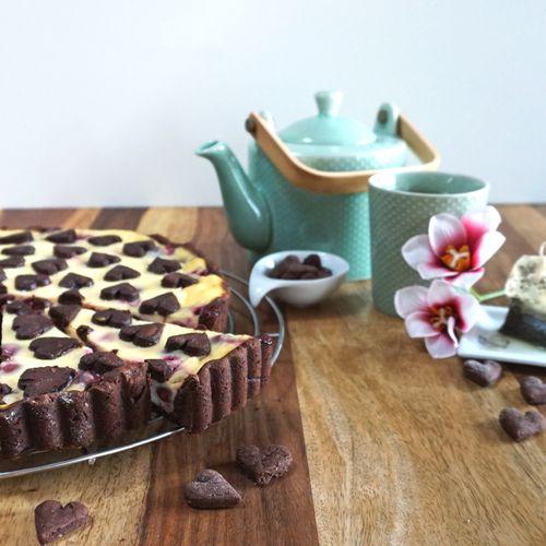 Cherry-Chocolate-Cheesecake-Tarte