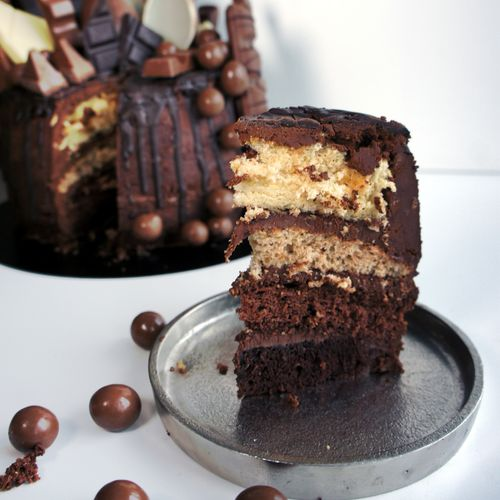 Death by Chocolate Ombre Cake