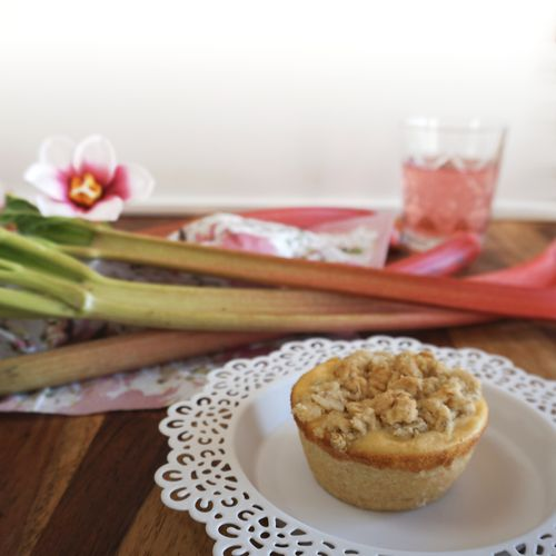 Rhabarber-Käsekuchen Muffins