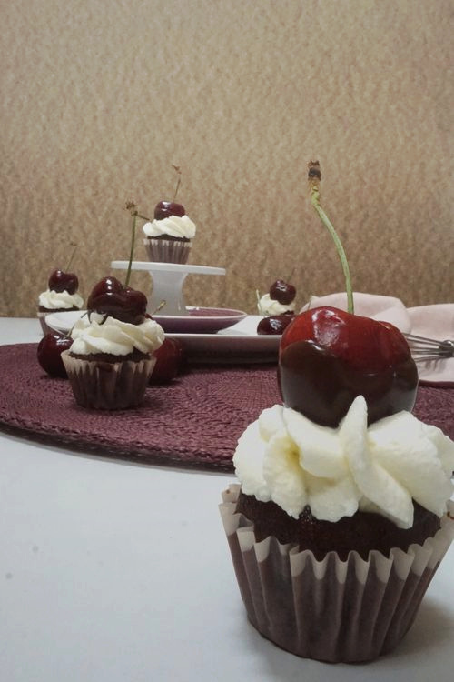 Mini Mon Cheri Cupcakes Anjas Backbuch