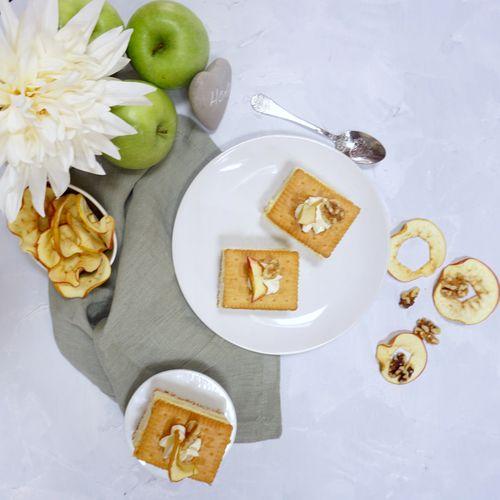 Apfelschnitten, Eierlikörcreme-Variante