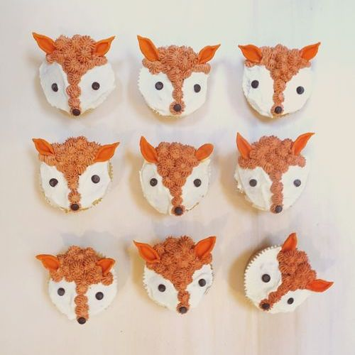 Fuchs Cupcakes mit Aprikosenfüllung