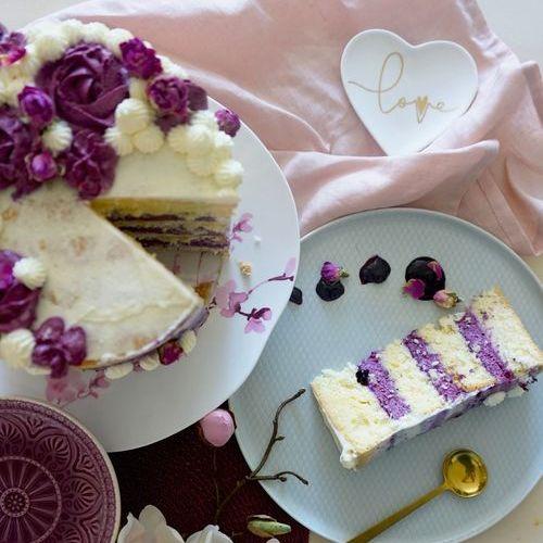 Heidelbeer-Holunderblüten-Torte