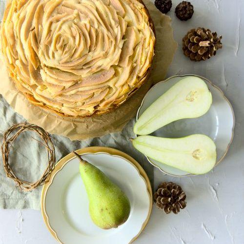 Birnen-Cheesecake mit Eierlikör